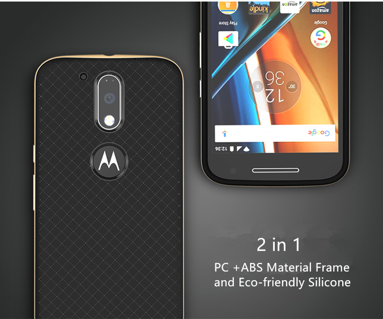 new arrival 41920 42c24 US $4.99  iPaky Case for Motorola Moto G4 Plus Cover Hard PC + Soft TPU  Silicone 2 in 1 Case for Moto G4 Cover Shockproof Protective Sheld-in  Fitted ...