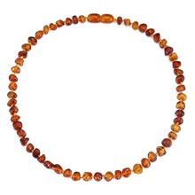 Amber Teething Necklace - DropShip - No invoice, no price, no logo - 7 Sizes - 10 Colors - Ship from CN