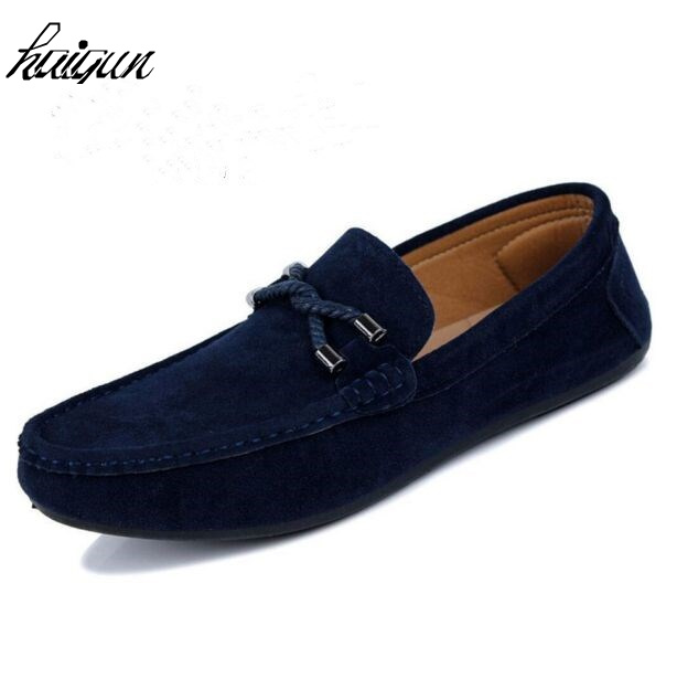 Mode homme respirant Suede Mocassins Slip plat Casual Ons 8tg9y