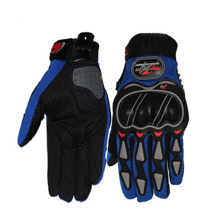 Image 2 - Leather Gloves Motorcycle Gloves Motorcycle motocross Bike Riding breathable Men Women Full Finger Touch Screen Gloves