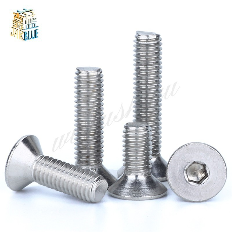 300Pcs/set M2 M2.5 M3 DIN7991 ISO10642 A2-70 Hexagonal Countersunk Screws Flat Head Screw Hex Socket Bolt Assortment Kit HW017