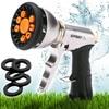 Garden Hose Nozzle Sprayer Heavy Duty Metal Spray Gun W Pistol Grip Trigger 9 Adjustable Patterns