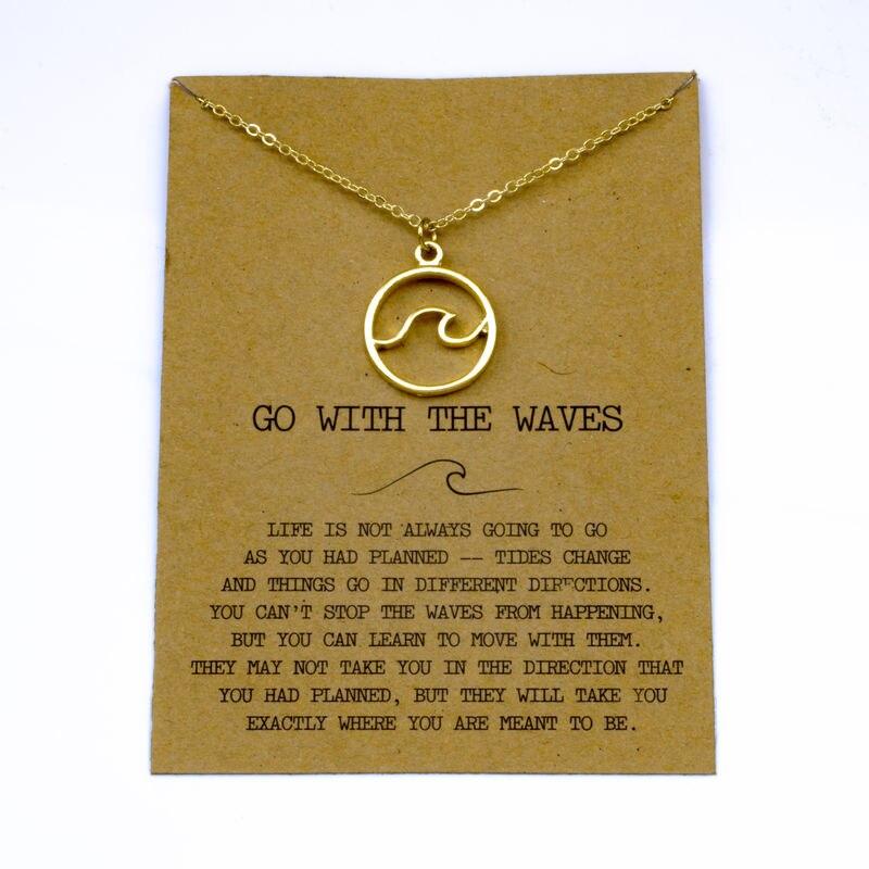 """SanLan 1 шт идут в комплекте ожерелье с подвеской """"волны"""" Океан ювелирные изделия - Окраска металла: 24"""