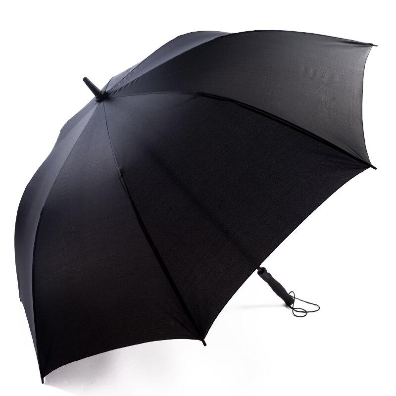 Man Super Big British Vintage Style Black Long-Handle Umbrella Car outdoor sunshade parasol umbrella