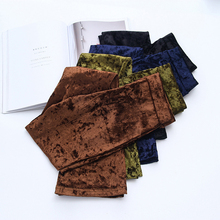 Bella Philosophy 2018 spring retro silm high-waist velvet flare pants stretchy vintage pant women autumn long pants