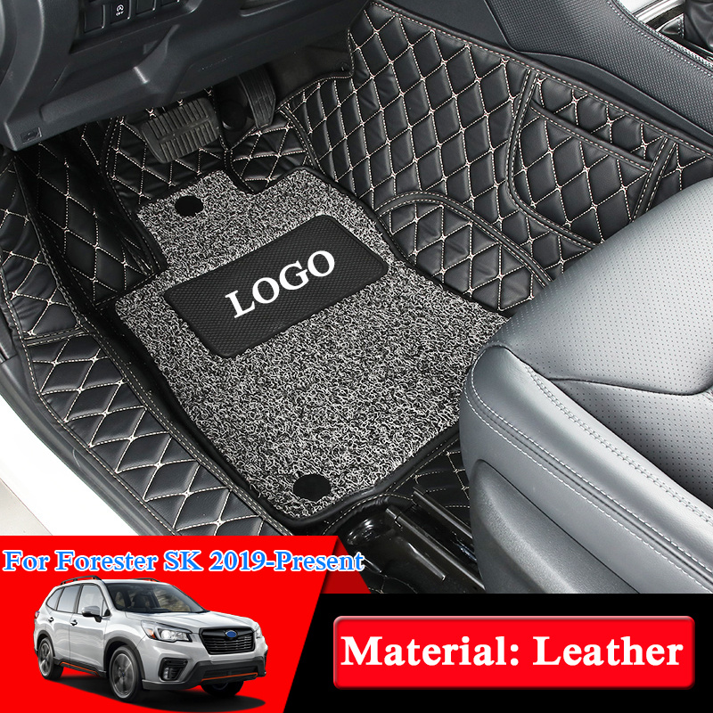 Car Styling For Subaru Forester SK 2019 Present LHD 5Seats Car Floor Mats Rugs Auto Leather Foot Mats Pad Interior Accessories