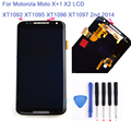 For Motorola Moto X+1 X2 LCD XT1092 XT1095 XT1096 XT1097 2nd 2014 LCD Display + Touch screen digitizer Assembly + tools , Black