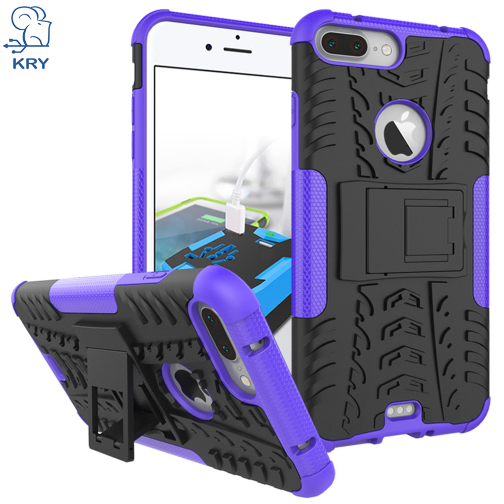 KRY Heavy Duty Hard Armor Hybrid Rugged Phone Cases For iPhone 7 Plus Case Stand Protective Cover For iPhone 7 Cases Capa Coque