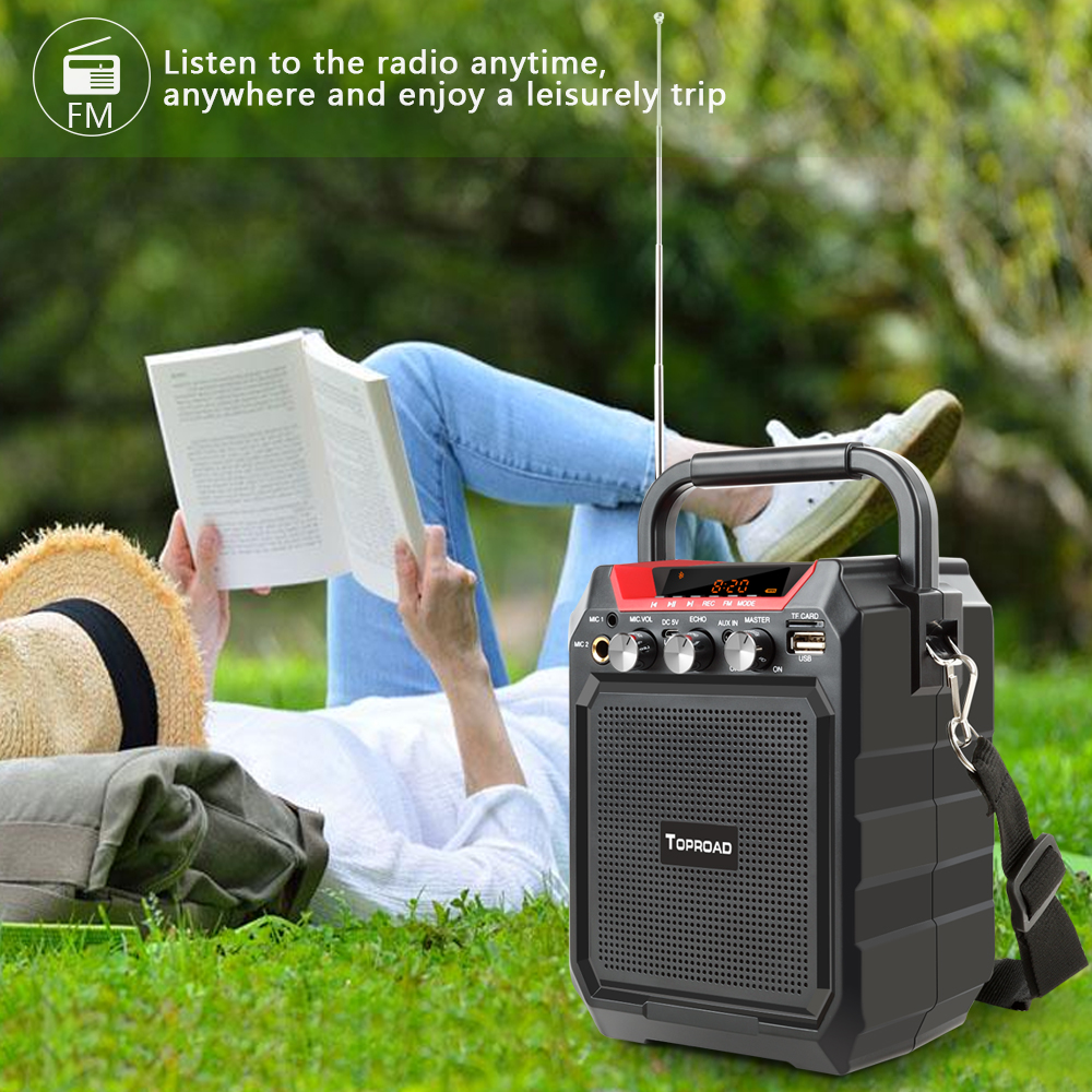 TOPROAD Portable Wireless Bluetooth Speaker With 3D Sound System Microphone And Remote Control 5