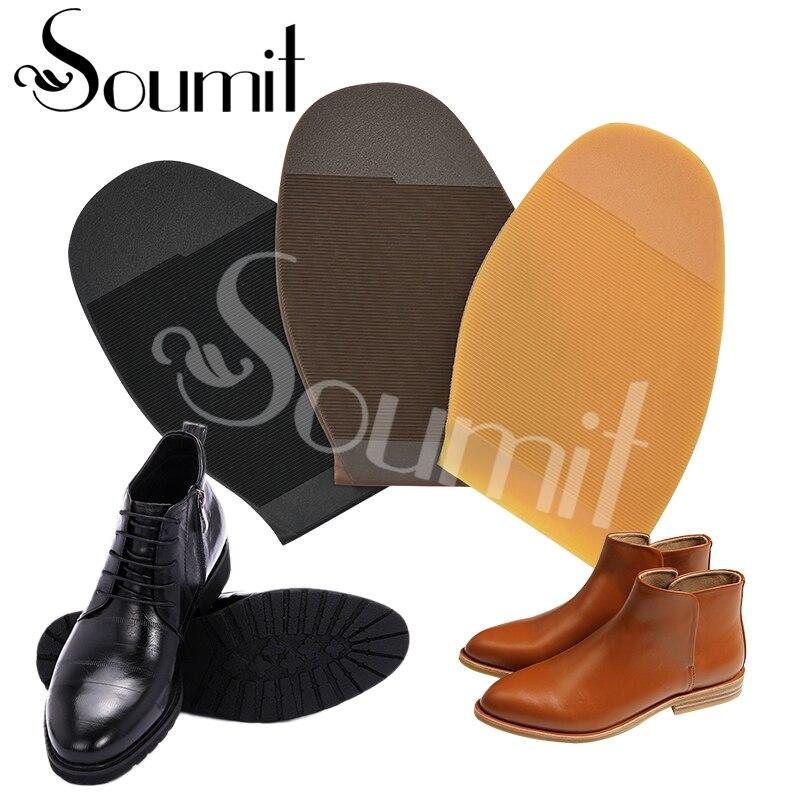 Soumit 1 Pair Rubber Shoes Repair Sole Outsoles For Shoes Anti-slip Wear Resistant Man Women DIY Stick-up Shoe Protector