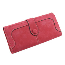 Fashion Retro Frosted Purse Pure Color Long Lady's Wallet LT88