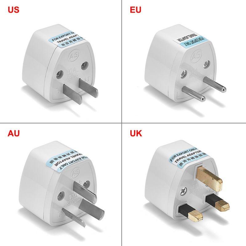 Universal au reino unido eua para ue plug adaptador conversor eua australiano para euro europeu ac adaptador de viagem tomada elétrica