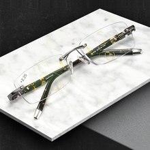 2018 New Titanium Alloy Quality Multifocal lenses Reading Glasses Men Fashion Anti Blue Ray Progressive