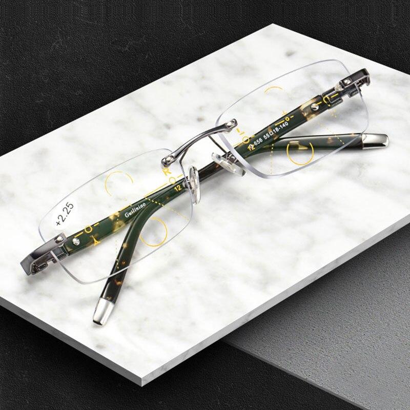 2018 Nova Liga de Titânio Qualidade Multifocal lentes Homens Óculos De  Leitura De Moda Anti Blue Ray Óculos Progressivos 5f77818e0a