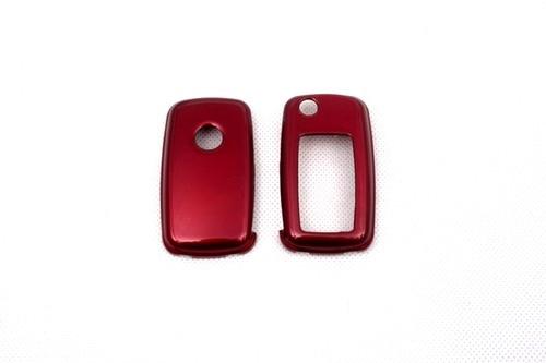 Жесткий Пластик БЕСКЛЮЧЕВОЙ дистанционный ключ защитный кожух(глянцевый металлический красный) для Фольксваген MK6
