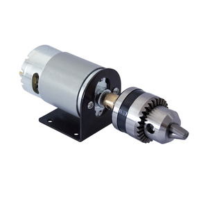 Image 2 - DC 12V torna pres 555 Motor ile minyatür el matkap Chuck ve montaj braketi 555 DC fırça motoru 18000rpm DIY montaj