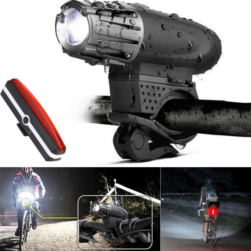 USB Rechargeable LED De Bicyclette De Vélo Phare Avant Ligh Sports de Plein Air Vélo Vélo Accessoires Haute Qualité Décembre 7 dans Vélo lumière de Sports et loisirs