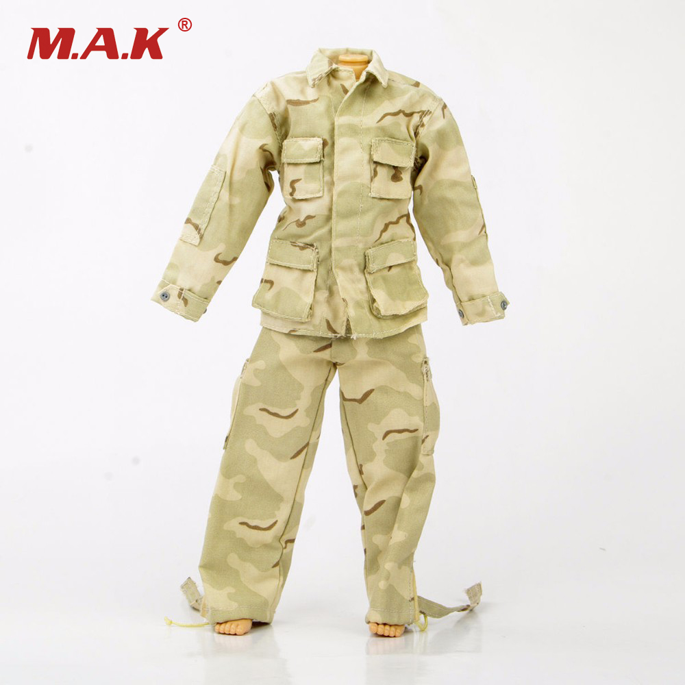 Hobby Collections 1/6 Army Soldier Camouflage Uniform Male Clothing Model Toys Coat & Pants Set For 12   Figure Body Accessory new phoenix 11207 b777 300er pk gii 1 400 skyteam aviation indonesia commercial jetliners plane model hobby