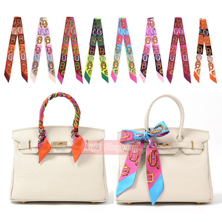 Fashion Chain Design 100 Silk Bag Handle Scarf Decoration Brand Ribbon Hat Small Tie Headband Infinity Scarves Wrap Bandana In From Women S