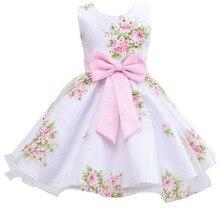 Retail new style summer font b baby b font girl print flower girl dress for wedding
