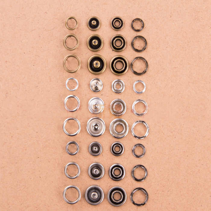 4in one prong Snap Buttons 7.5/8/9/10mm claw Fasteners Press Stud metal copper for handmade Gift Box Scrapbook Craft DIY Sewi Wh
