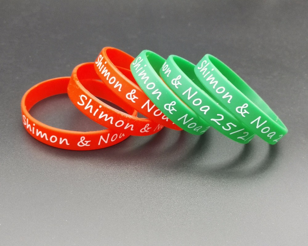 Lot High Quality Custom Logo Rubber Silicone Wristband  & Bracelets For Promotion