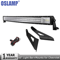 Oslamp 3 Row 50 702W Curved Offroad LED Light Bar Combo Led Bar Lights For GMC