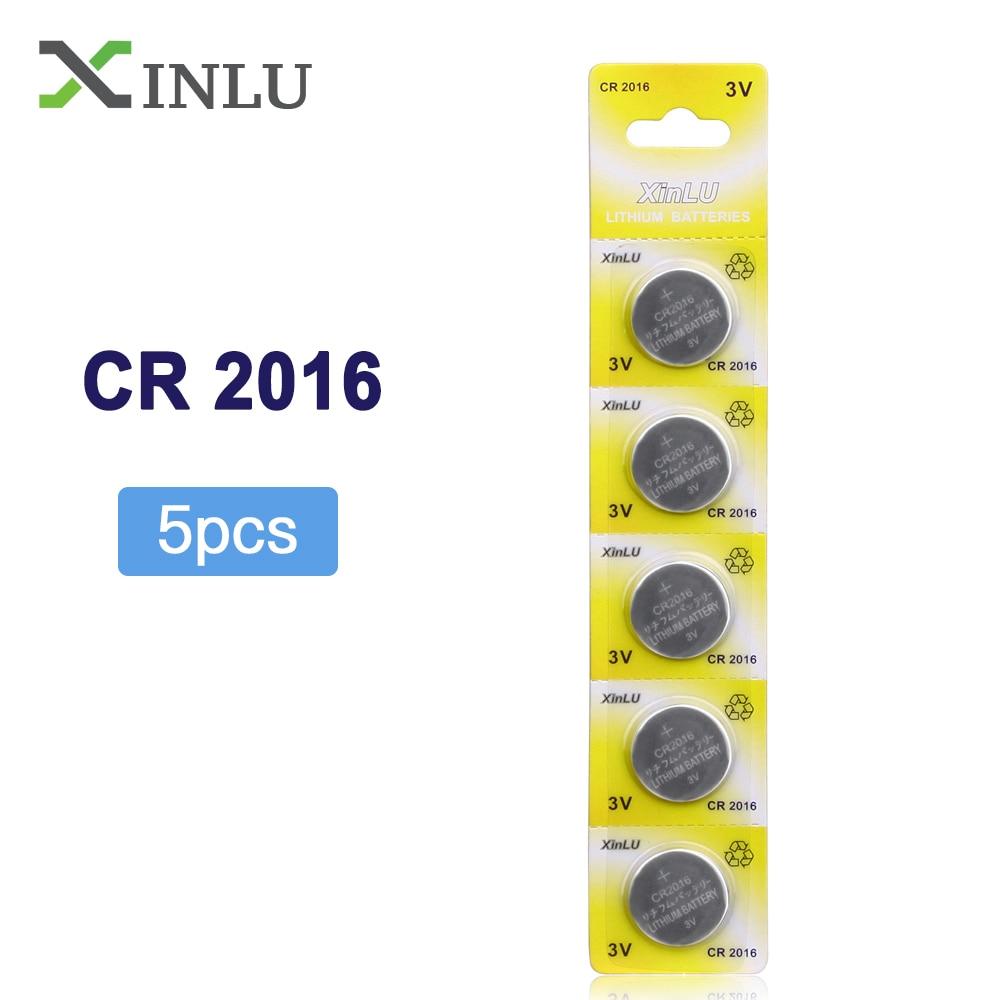 5 יח'\אריזה CR2016 כפתור סוללות LM2016 BR2016 DL2016 מטבע ליתיום סוללה 3 V CR 2016 עבור שעון אלקטרוני צעצוע מרחוק