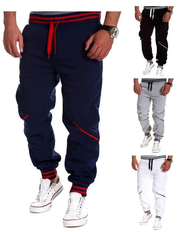 ZOGAA 2019 men's pants casual contrast color splice sports pants men joggers sweat winter pants men sweatpants men joggers print