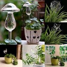 6 סוגים זכוכית צמח פרחי מים מזין אוטומטי עצמי השקיה התקני ציפור כוכב לב עיצוב צמח Waterer