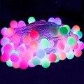 Праздник 10 М Оформлены СВЕТОДИОДНЫЕ Строки 80led шарик 220В Открытый Огни Строки Свадьба Garden Party Новогоднее Украшение СВЕТОДИОДНЫЕ Строки