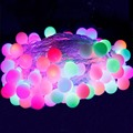 Holiday 10M Decorated LED Strings 80led ball AC220V Outdoor String Lights Wedding Garden Party Christmas Decoration LED String