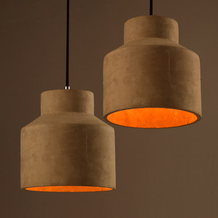 Contracted Nordic Style Pendant Light Creative Cement Pendant Lamp Personality Retro Light Coffee Shop Art Deco Lighting