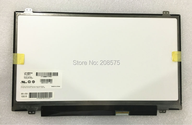 Free shipping  LP140WH2 TLN1 TLN2  LED LVDS 1366X768 14.0 inch slim Laptop LCD Screen 40 pins