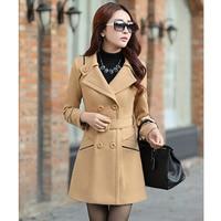 ZOGAA Autumn Winter Coat Women Long Wool Oversized Elegant Overcoat Women Double Breasted Woolen Female Coat Plus Size