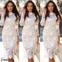 2019 New Summer Fashion Women Casual Top Long Shelf O approach Straight White Dress Lose Plus Size Cotton Midi Pencil Dress