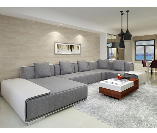 Northern European  Living room washable sectional sofas furniture with poliester fabric L36