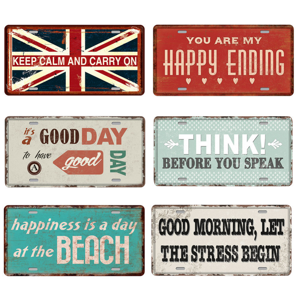 a2679853 Retro Tin Sign Plate Retro Motivation Sayings Antique Poster Bar Pub Signs  Poster Plaque Wall Art Home Decoration 15*20cm
