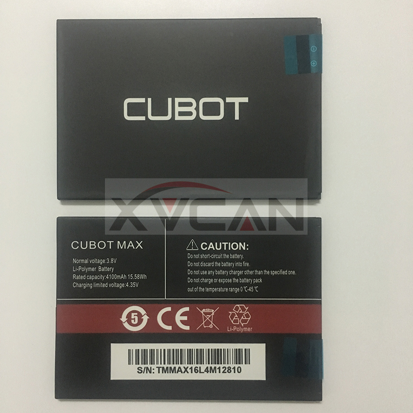 100% New Original Cubot Max Battery 4100mah Replacement Backup Battery For Cubot Max Cell Phone In Stock