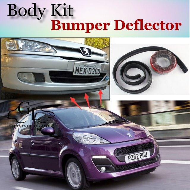 Bumper Lip Deflector Lips For Peugeot 106 / 107 / 108 Front Spoiler ...