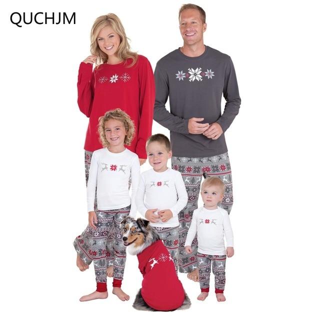 501c6b770f525 2018 famille noël pyjamas nouveau correspondant vêtements de nuit mère fille  vêtements père fils Mon bébé