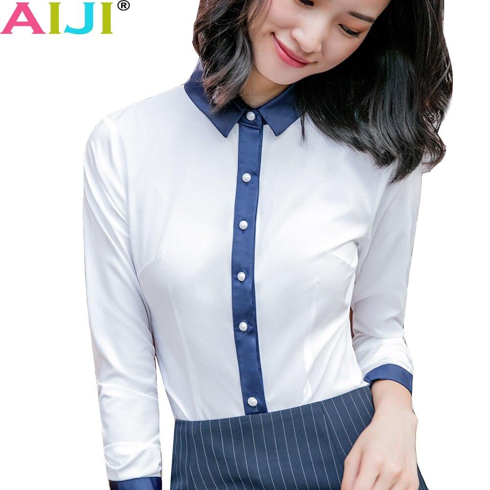 a018f7b76c603 work blouse women long sleeve Plue size OL elegant solid bow tie turn-down  collar Formal chiffon shirts ladies office wear tops