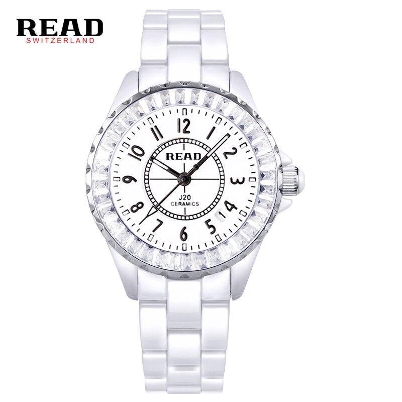 ФОТО READ  brand Digital Women's  Watches dazzle beauty space ceramic girls quartz wrist watch female white 3002