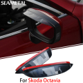 1 Pair For Skoda Octavia A5 2010 - 2013 Car Rearview Mirror Eyebrow Covers Flexible Protection Rainproof Decoration Accessories
