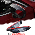 1 Par Para Skoda Octavia A5 2010-2013 Tampas de Proteção Flexível À Prova de Chuva Sobrancelha Espelho Retrovisor Do Carro Acessórios de Decoração