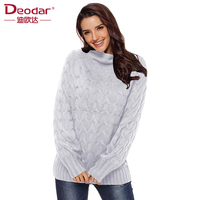 Deodar Female Turtleneck Sweater Women Pullover Knitted Slim 2018 Winter Cashmere Sweaters Womens Jumpers Basic Black Pink
