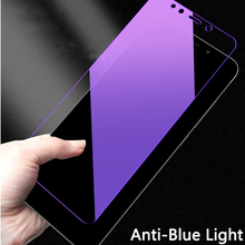Anti Blue Purple Light Tempered Glass For Xiaomi Redmi Note 7 6 5 Pro 5 Plus 6A 5A S2 Y2 Y1 lite Black Shark Screen Protector(China)