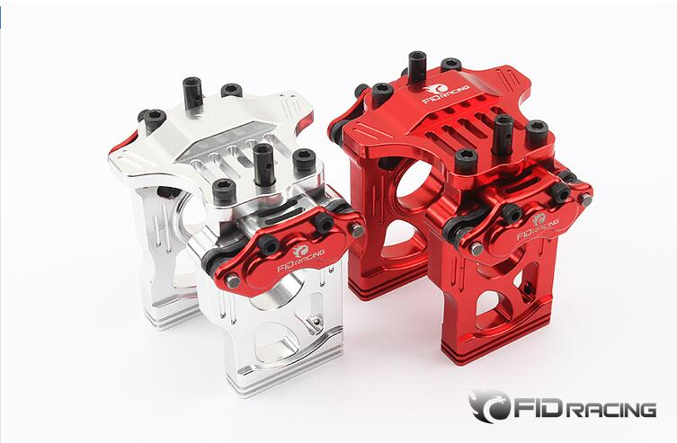 FID CNC alloy quick release disc brake mid diff bracket brace for Losi 5ive-t 5t 1/5 gas rc car fid v2 front upper turning fixed plate top chassis brace for losi 5ive t