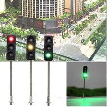 5 шт., архитектурный мини-светильник, металлический сигнальный светильник для Sca светодиодный, модель, светодиодный, для поезда, железной дороги, миниатюрные сигналы для железной дороги