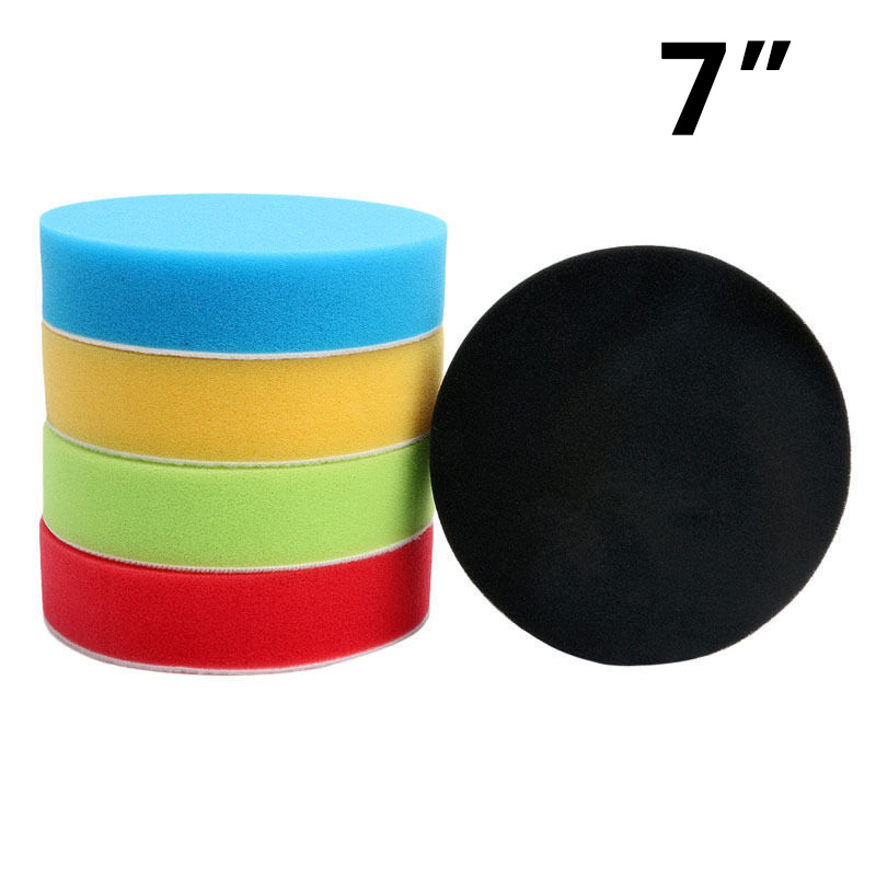 Image 3 - 5pcs/Set Sponge Polishing Pads 18*3.2cm 5colors Car Round Flat Polishing Buffing Sponge Pads High Quality Accessories For Cars-in Polishing & Grinding Materials Set from Automobiles & Motorcycles